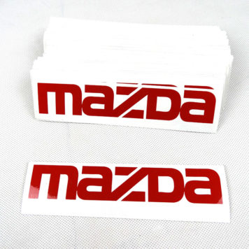 3 stickers pack oem mazda red 356x356